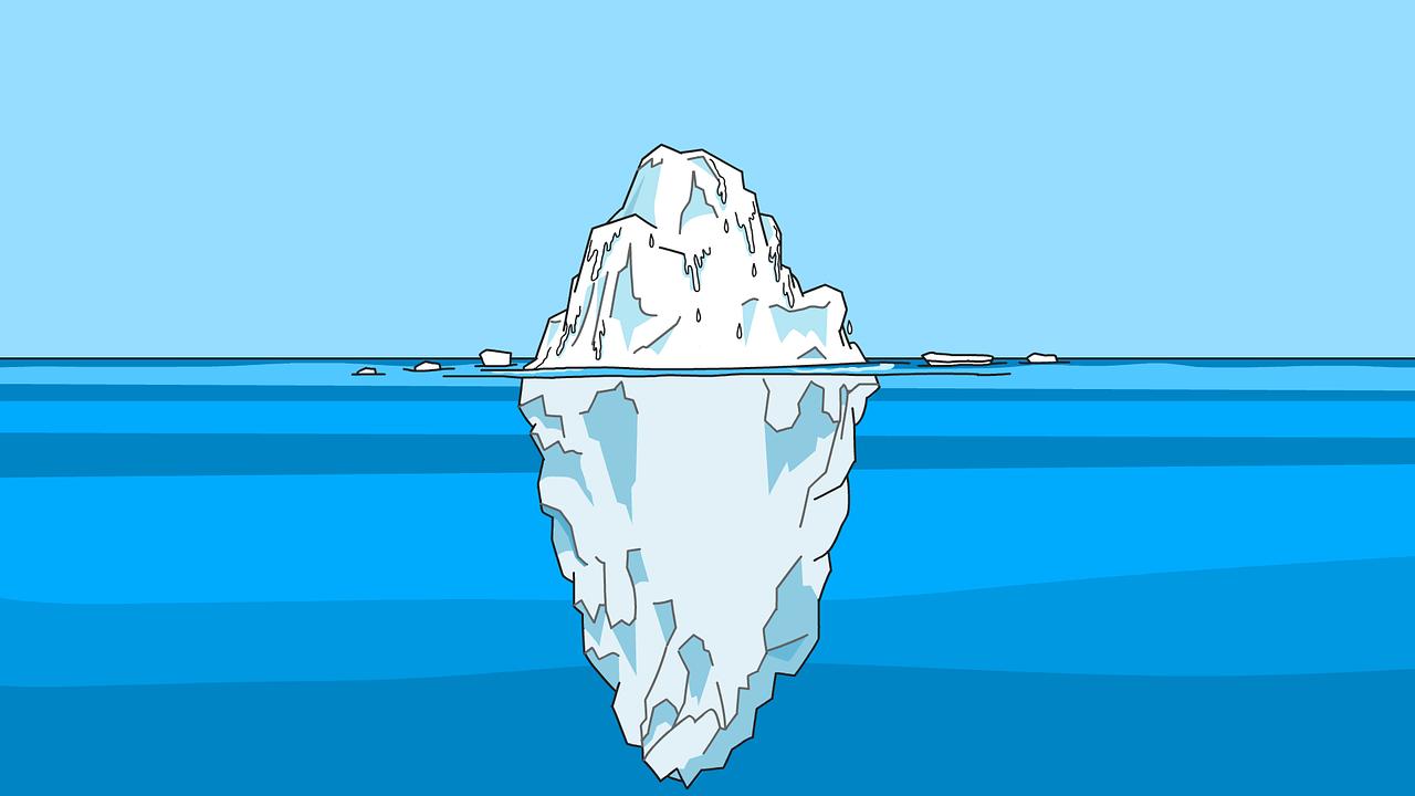 Recherche: Texte und Eisberge - nur Bruchteile werden wahrgenommen