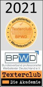 Texterclub-Siegel-Zertifizierter Werbetexter-2021