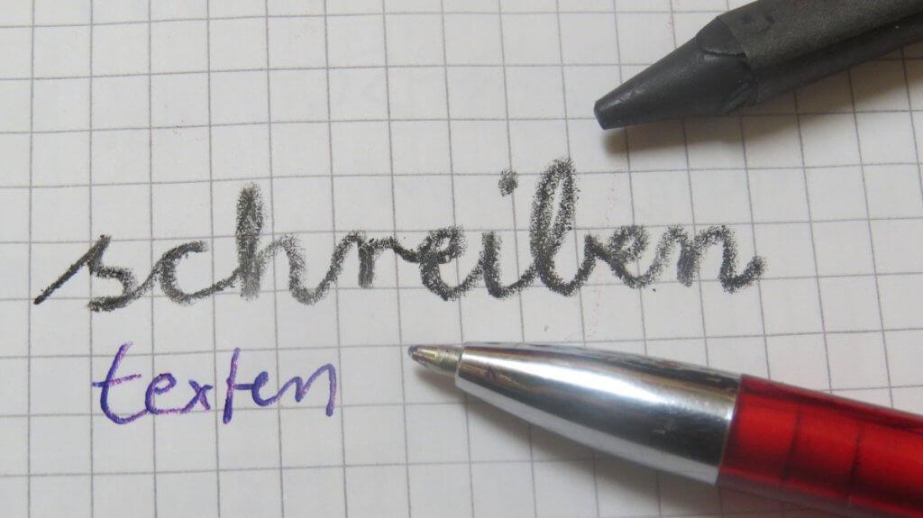 SchreibenTextenUnterschied